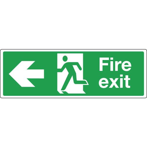 Extra large directional emergency escape signs