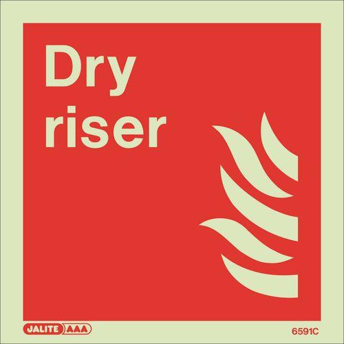 Photoluminescent Fire fighting equipment notices - Dry riser