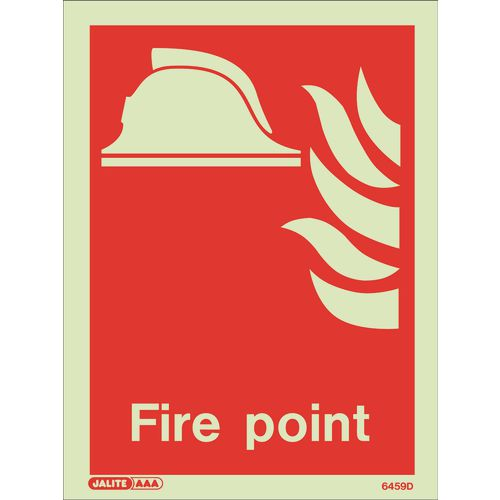 Photoluminescent Fire point location sign
