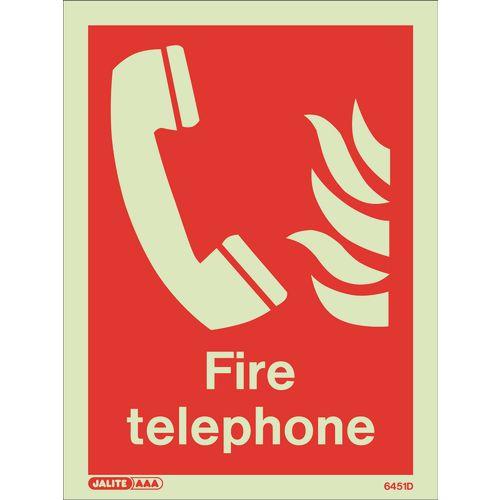 Photoluminescent Fire telephone location sign