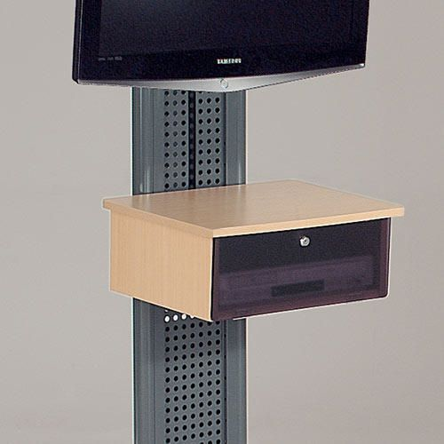 LCD and plasma mobile stand - beech cabinet