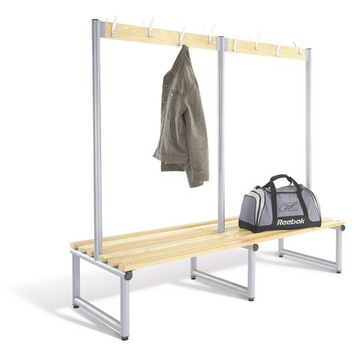 Probe round tube cloakroom bench units with hooks