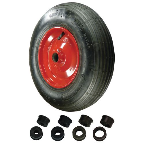 Replacement wheelbarrow wheels - pressed steel centre