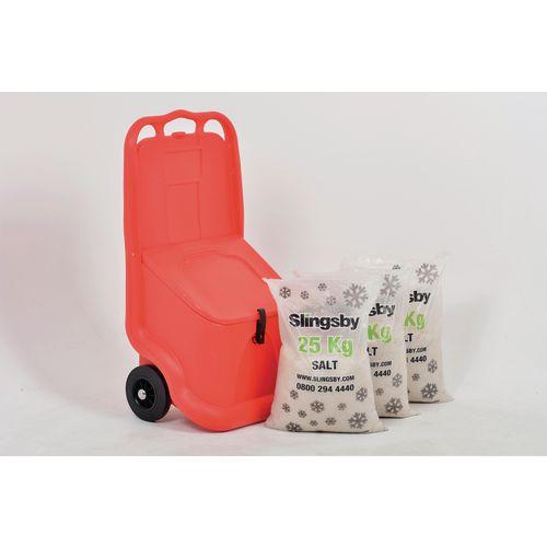 75L Mobile salt and grit bin kit