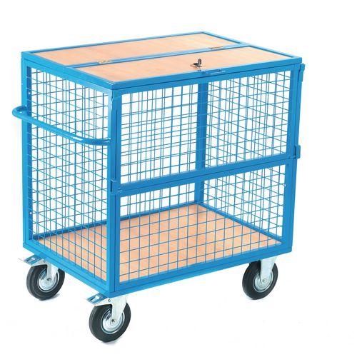Lockable security trolleys