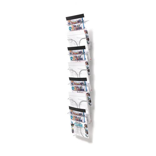 Wall mounted wire literature dispenser