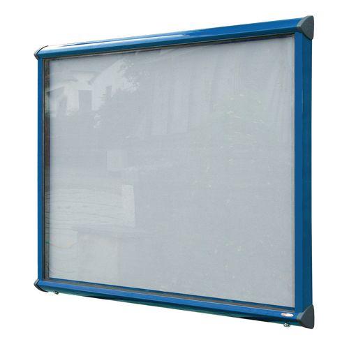 Shield® External lockable IP55 noticeboard showcase - Coloured frame