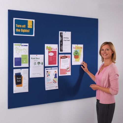 Frameless covered office noticeboard