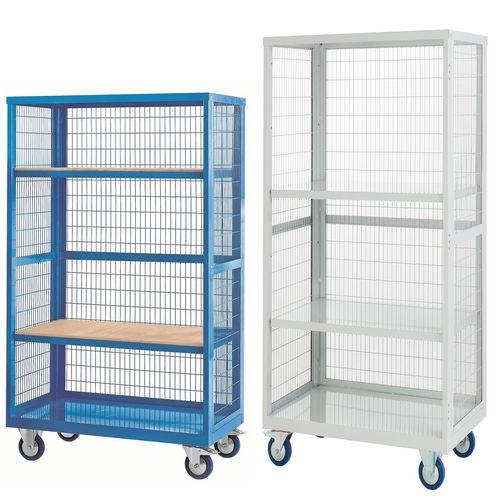 Mesh sided shelf trucks, without doors
