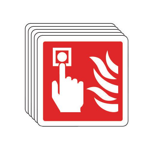 Fire alarm pictorial - multi-pack of 5
