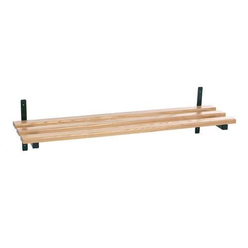 Evolve wall mounted wood cloakroom shelf