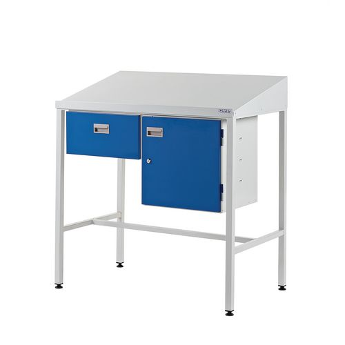 With single drawer & cupboard