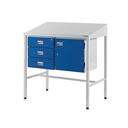 With triple drawers & cupboard