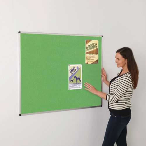 Bright coloured noticeboards