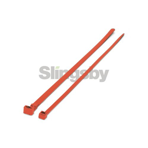Mixed standard coloured plastic cable ties, red