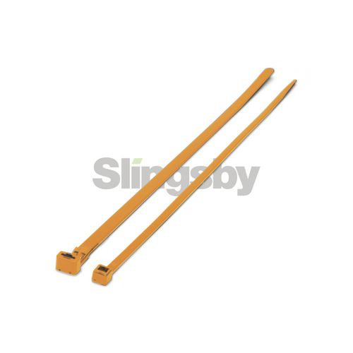 Mixed standard coloured plastic cable ties, orange
