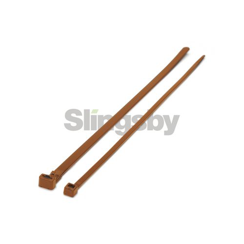 Mixed standard coloured plastic cable ties, brown