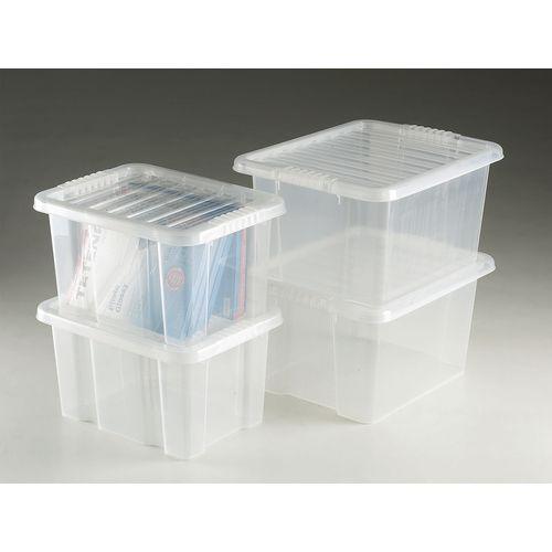Transparent plastic containers
