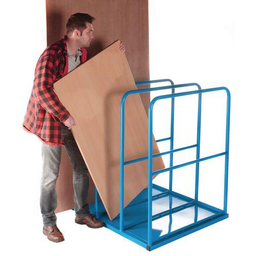 Vertical sheet racks