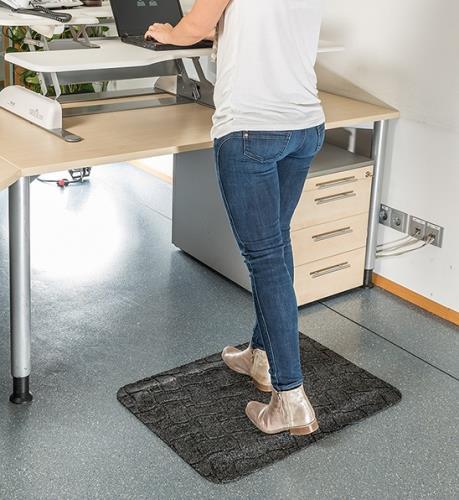 Anti-fatigue sit/stand desk mats