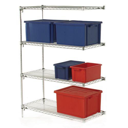 Metro super adjustable Super Erecta® wire shelving system - 4 shelf add on unit