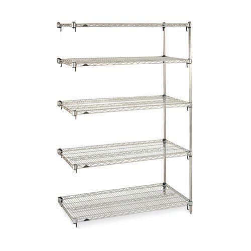 Metro Super adjustable Super Erecta® shelving - 5 shelf add-on units