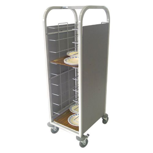 Tray clearing trolley
