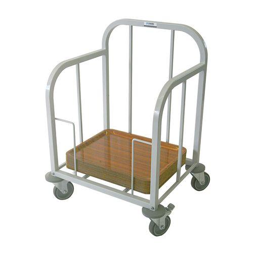 Tray dispenser trolley
