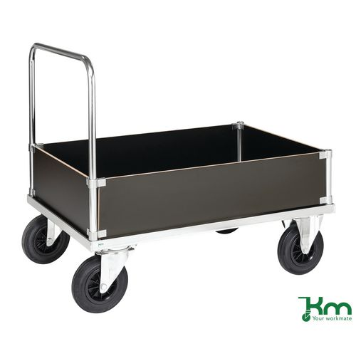 Konga heavy duty zinc plated low box platform truck