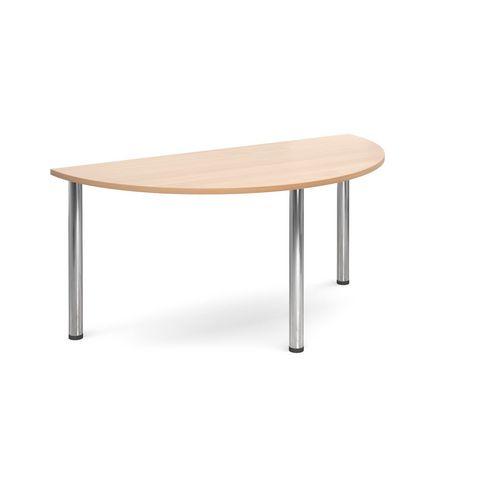 Semi-circular leg meeting table
