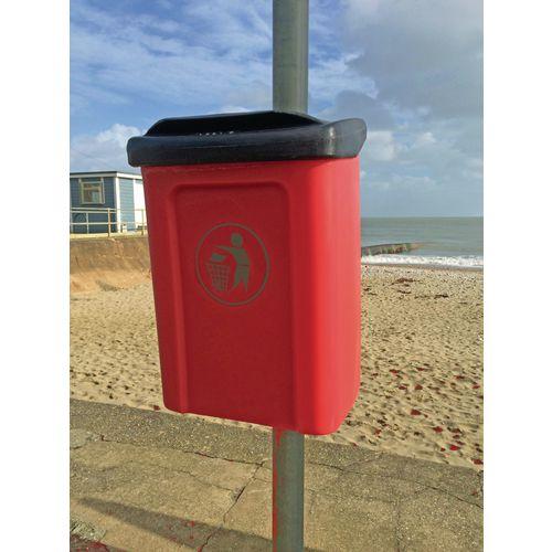 Titus post or wall mounted litter bin