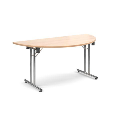 Semi-circular folding tables