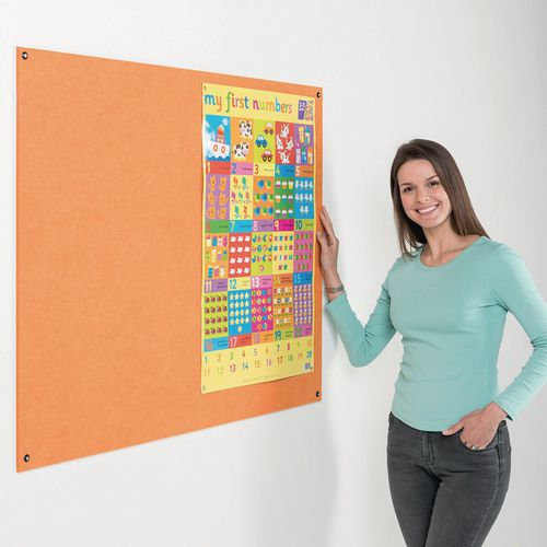 Eco-Colour® Frameless fire resistant office noticeboards