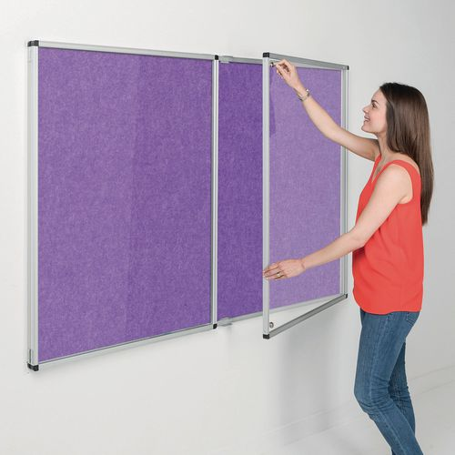 Eco-colour® fire resistant tamperproof lockable office noticeboards