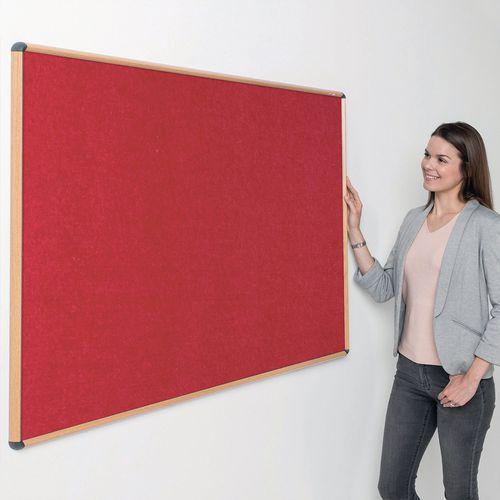 Shield® fire resistant light oak effect framed noticeboards