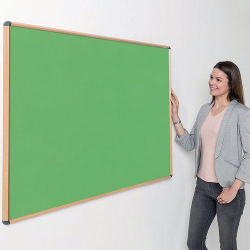 Shield® light oak effect framed noticeboards