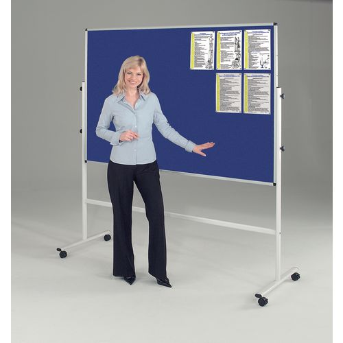 Double sided mobile noticeboards