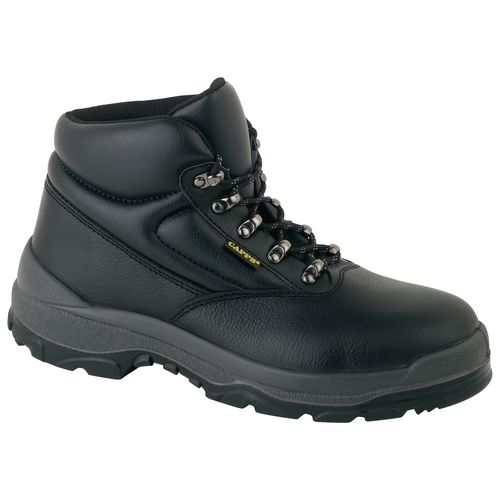 Smooth leather uniform safety boots