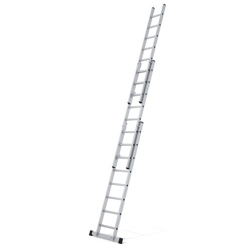 Aluminium extension ladders for trade use - three section