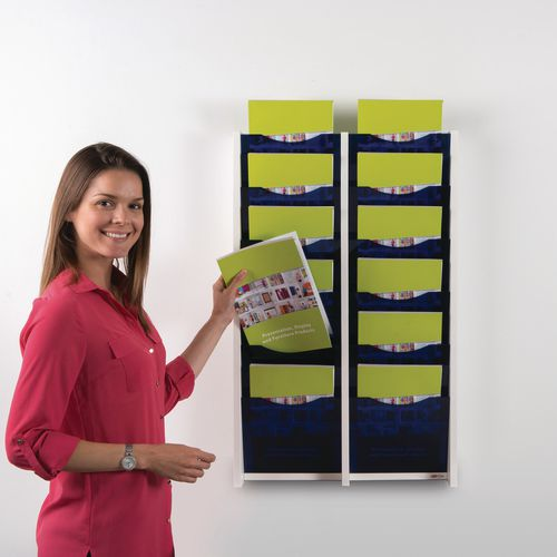 Acrylic fronted wall mounted literature dispenser