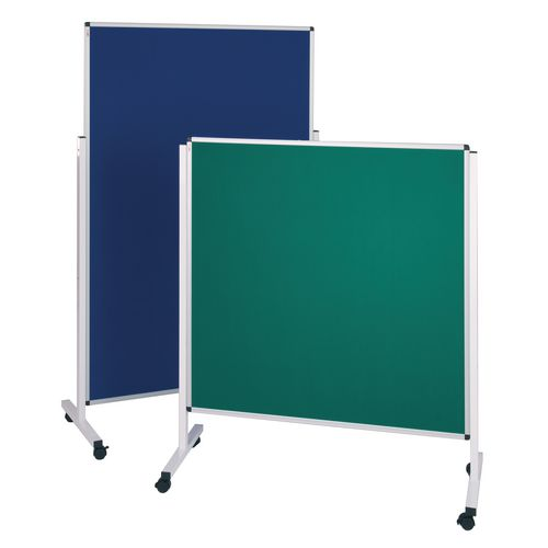 Height adjustable mobile noticeboards