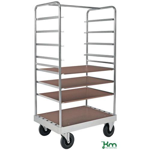Konga extra heavy duty zinc plated table top trolleys