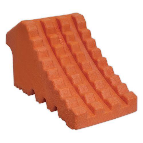 Polyurethane foam wheel chock