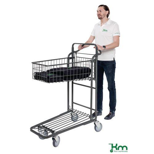 Konga nesting stock trolley with fixed basket