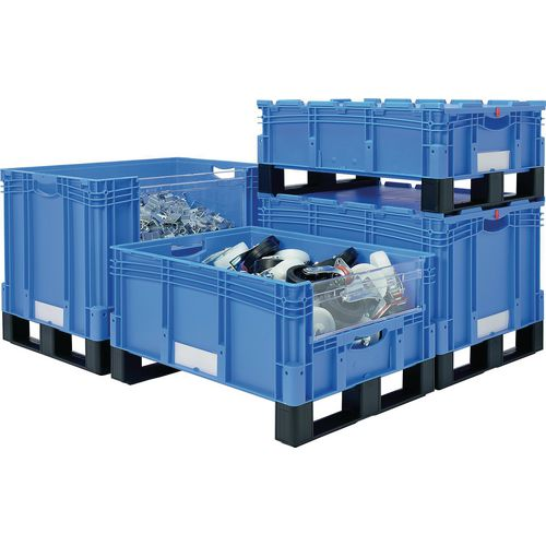 Heavy duty stacking containers
