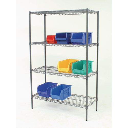 Slingsby nylon coated wire shelving