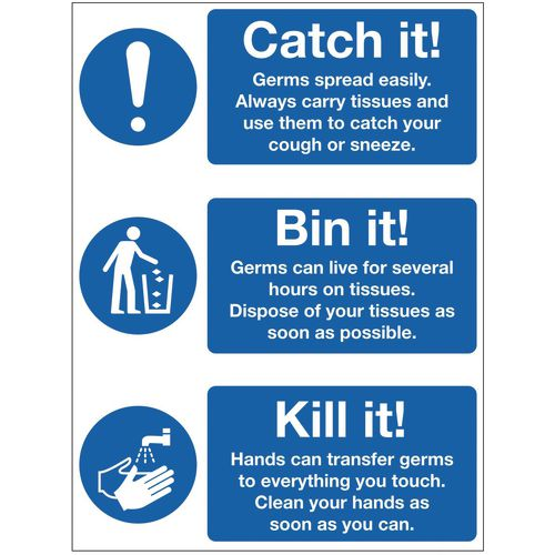 Infection prevention sign