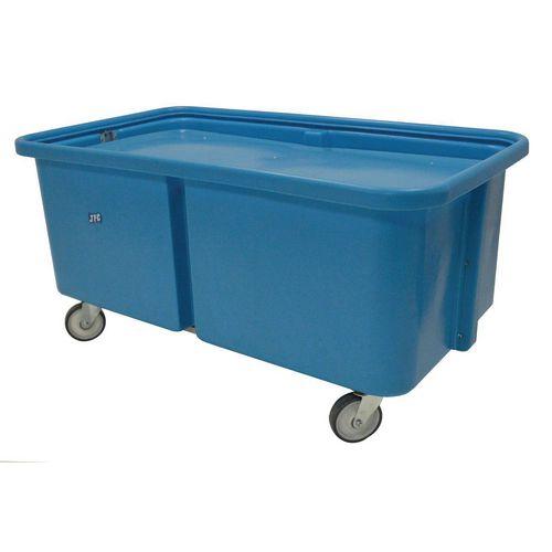 Plastic self levelling trolleys, 543 litres