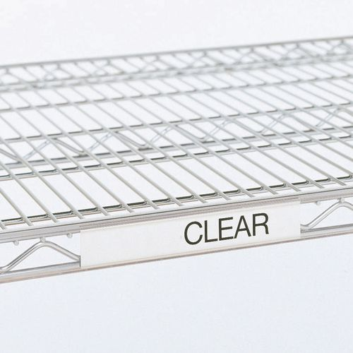 label holder for Slingsby chrome wire shelving