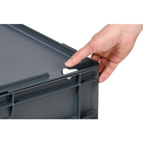 Hinged lids for Euro containers - pack of 10